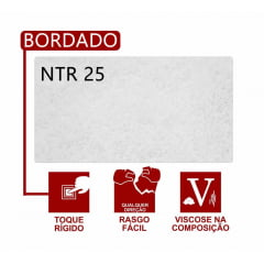 Entretela de Bordar Fiorella NTR 25 - Com 200 metros - Fina