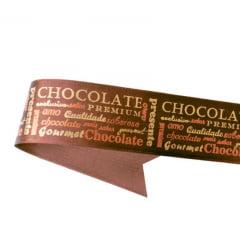 Fita de Cetim - Chocolate - 38mm - C/10m