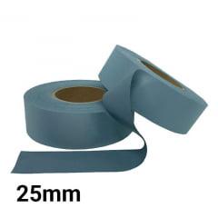 Tecido Refletivo Cinza - Fita Refletiva - Faixa refletiva Cinza - 25mm - C/100m