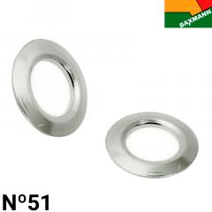Arruela de Alumínio - Baxmann - Nº51 - Niquelado Prata - C/1000und