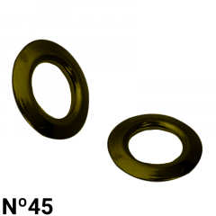 Arruela de Latão - Baxmann - Nº45 - C/1000und