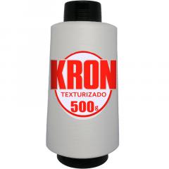 Fio para Overlock Branco - Kron - 100% Poliéster Texturizado - Cone com 500G