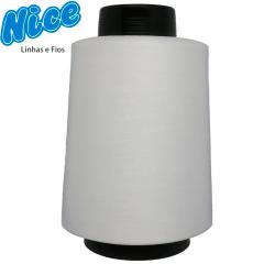 Fio Para Overlock Branco - NICE - 100% Poliéster Texturizado - Cone Com 1KG