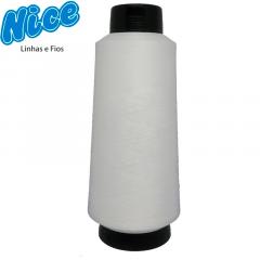 Fio Para Overlock Branco - NICE - 100% Poliéster Texturizado - Cone Com 300g