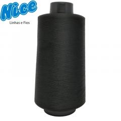 Fio Para Overlock Preto - NICE - 100% Poliéster Texturizado - Cone Com 500g