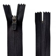 Zíper Nylon Fitness - Invisível - Fixo - Nº3 - Cursor emborrachado - 15cm