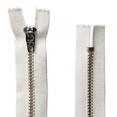 Zíper Metal Niquelado Médio de Algodão - PT - Fixo - Nº3 - Corrente - 4cm