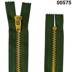 Zíper Metal Dourado Médio - Fixo - Nº3 - Corrente - 15cm