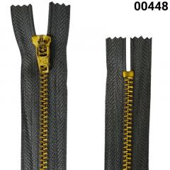 Zíper Metal Dourado Médio - Fixo - Nº3 - Corrente - 8cm