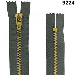 Zíper Metal Dourado Médio - Fixo - Nº3 - Flexnyl - 12cm