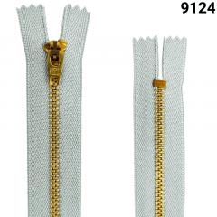 Zíper Metal Dourado Médio - Fixo - Nº3 - Flexnyl - 18cm