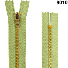 Zíper Metal Dourado Médio - Fixo - Nº3 - Flexnyl - 15cm