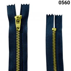 Zíper Metal Dourado Médio - Fixo - Nº3 - Flexnyl - 8cm