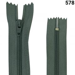Zíper Nylon Fino - Fixo - Nº3 - 50CM
