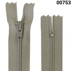 Zíper Nylon Fino - Fixo - Nº3 - Corrente - 10cm
